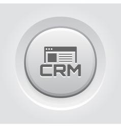 Shop CRM System Icon Grey Button Design vector