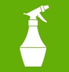 spray bottle for flower icon green vector image