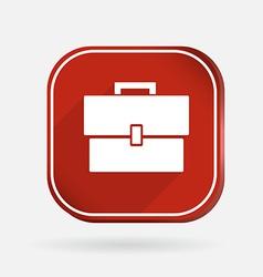 square icon briefcase vector image