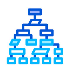 structure computer system thin line icon vector image