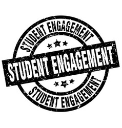 Student engagement round grunge black stamp vector