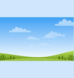 sunny spring or summer landscape meadows sky vector image