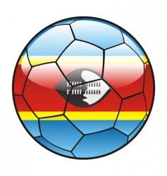 Swaziland flag on soccer ball vector