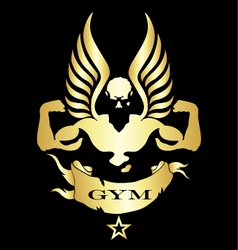 Symbol for gym and fitness vector