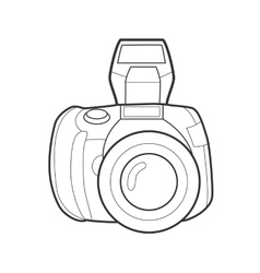 Symbol photo camera Icon for web site Line art vector