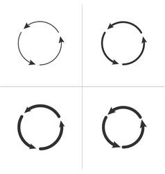 three circle counter clockwise arrows black icon vector image