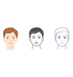 three women faces vector image