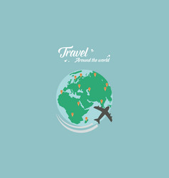 Travel on the world flat vector