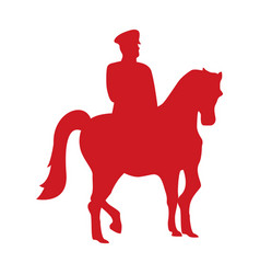 Turkey soldier in horse silhouette icon vector
