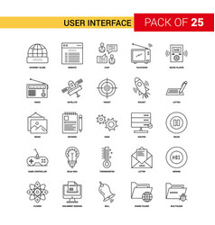 User interface black line icon - 25 business vector