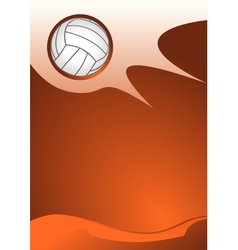 Volleyball background vector image