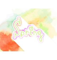 Watercolor composition spring design EPS10 vector image