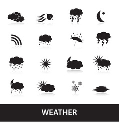 weather symbols eps10 vector image