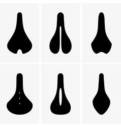 Bike saddle vector image vector image