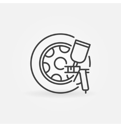 Car wheels paint icon vector image