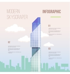 City infographics of glass modern office vector image vector image