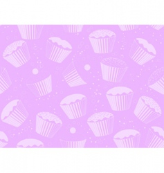 cup cake background vector image