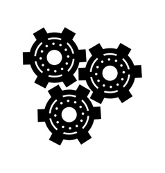 silhouette set gear wheel engine cog icon vector image