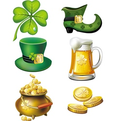 st patrick day set vector image vector image