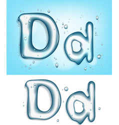 water typeface vector image vector image