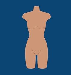 Woman mannequin torso flat style vector image