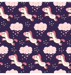 Baby cute pattern vector image