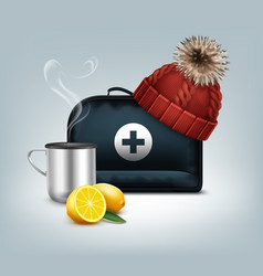 black medicine chest vector image vector image