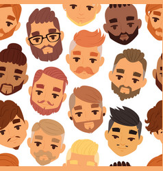 character bearded man face avatar fashion hipster vector image vector image