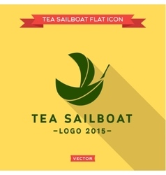 Green Ship of the leaf logo vector image