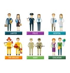 people logo design template police vector image