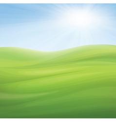 sky grass vector image vector image