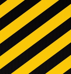 traditional warning stripe vector image