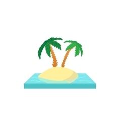 Palms on the island icon cartoon style vector image
