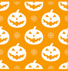 pattern with white pumkins vector image vector image