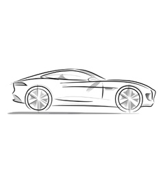 Sports car with a sleek vector image