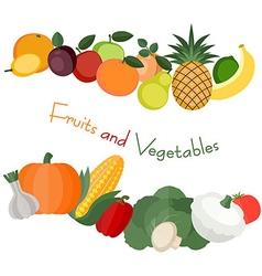 Various fruit and vegetables vector image