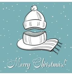 Winter Xmas Postcard vector image