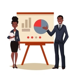 African American businessman and businesswoman vector image vector image