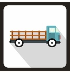 Cargo truck icon flat style vector image vector image