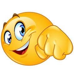 fist bump emoticon vector image vector image