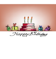 happy birthday free handdrawing vector image vector image