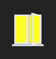 light from the open window yellow light vector image vector image