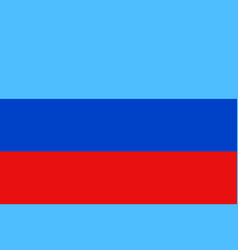 luhansk people s republic flag vector image