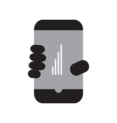 Smart phone full signal vector image vector image