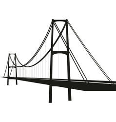 suspension cable bridge vector image vector image