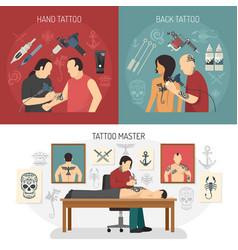 tattoo studio design concept vector image vector image