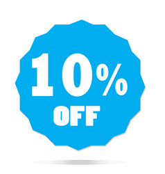 10 percent off on white background 10 percent off vector image