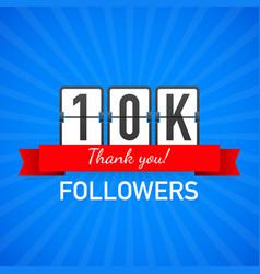 10k followers thank you social sites post thank vector