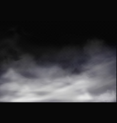3d realistic transparent fog grey mist vector