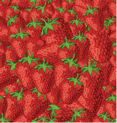 a seamless background strawberries vector image